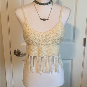 Festival Crochet Tassel Crop Top!!!